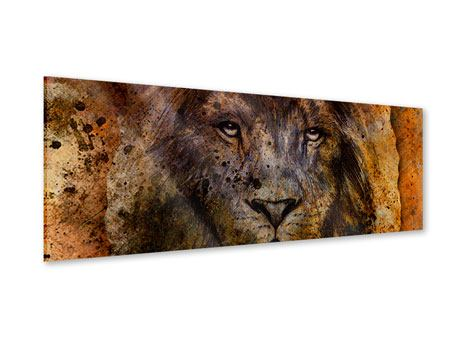 Panoramic Acrylic Print Portrait Of A Lion