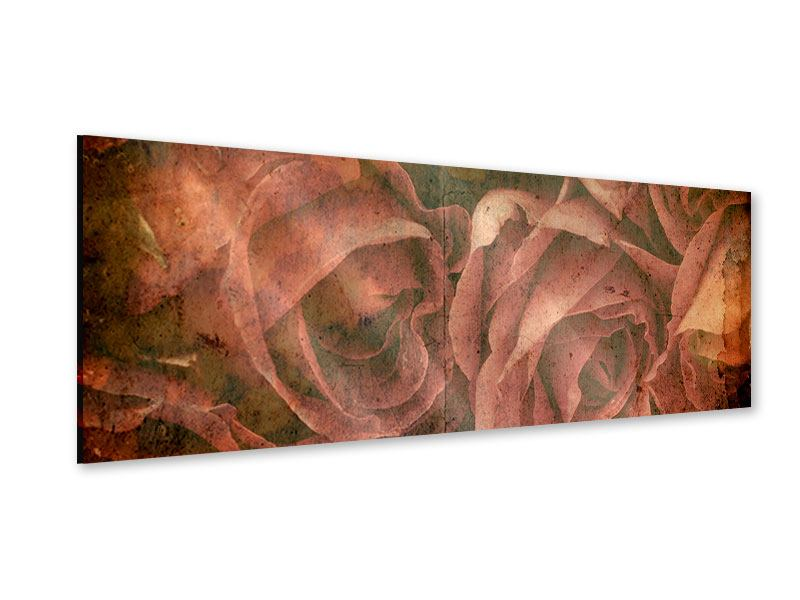 Panoramic Acrylic Print Rose Bouquet