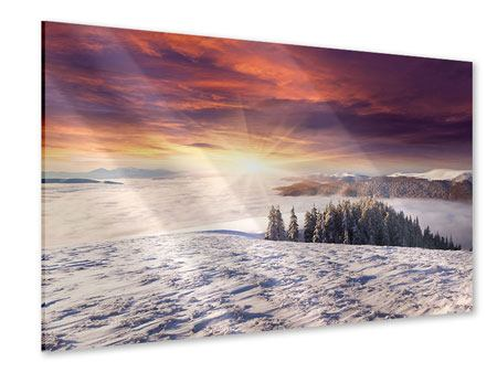 Acrylic Print Sunrise Winter Landscape