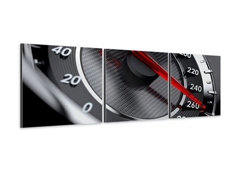 Panoramic 3 Piece Aluminium Print Speed