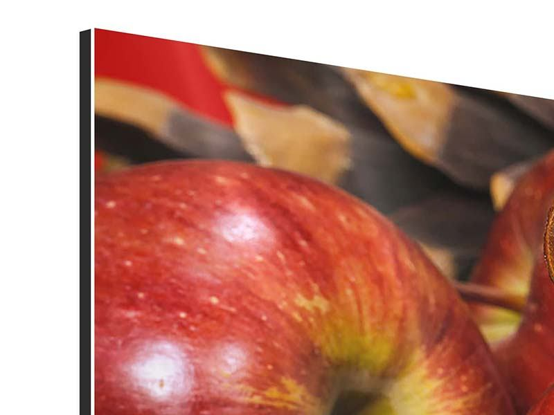 Modern 3 Piece Aluminium Print Apples