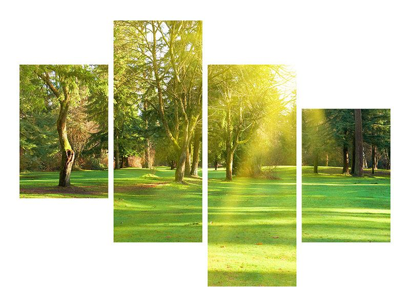 Modern 4 Piece Aluminium Print In The Park