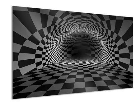 Aluminium Print Abstract Chessboard