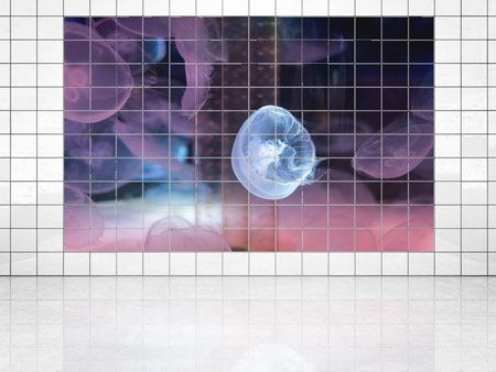 Tile Print The Beauty Of Jellyfish