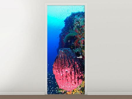 Door Mural Underwater world