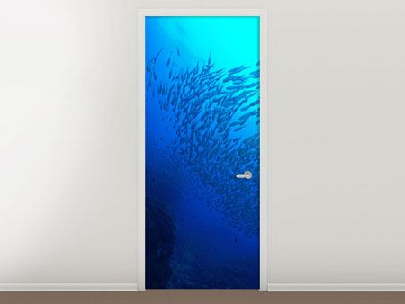 Door Mural Fish World