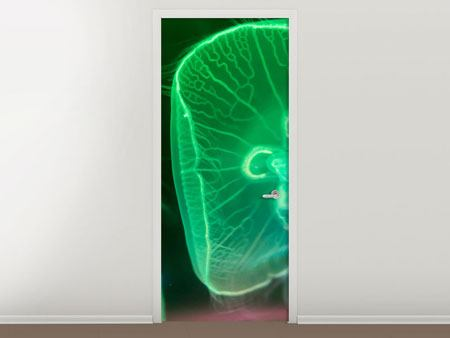 Door Mural Jellyfish In Light