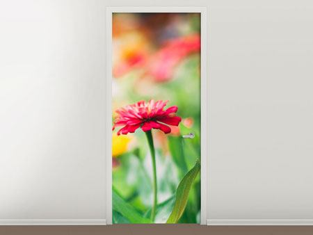 Door Mural In Flower Garden