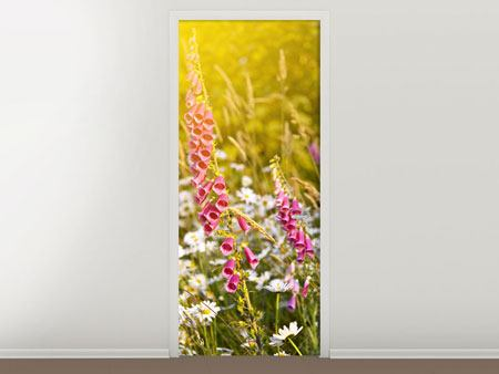 Door Mural Summer Flower Meadow