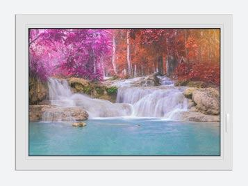 Window Print Paradisiacal Waterfall