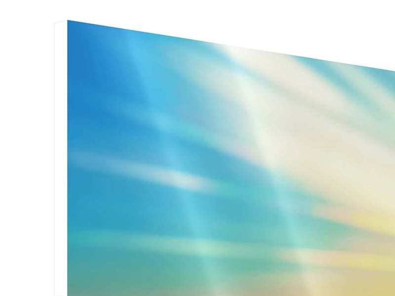 Panoramic 3 Piece Forex Print Sunset Above The Clouds