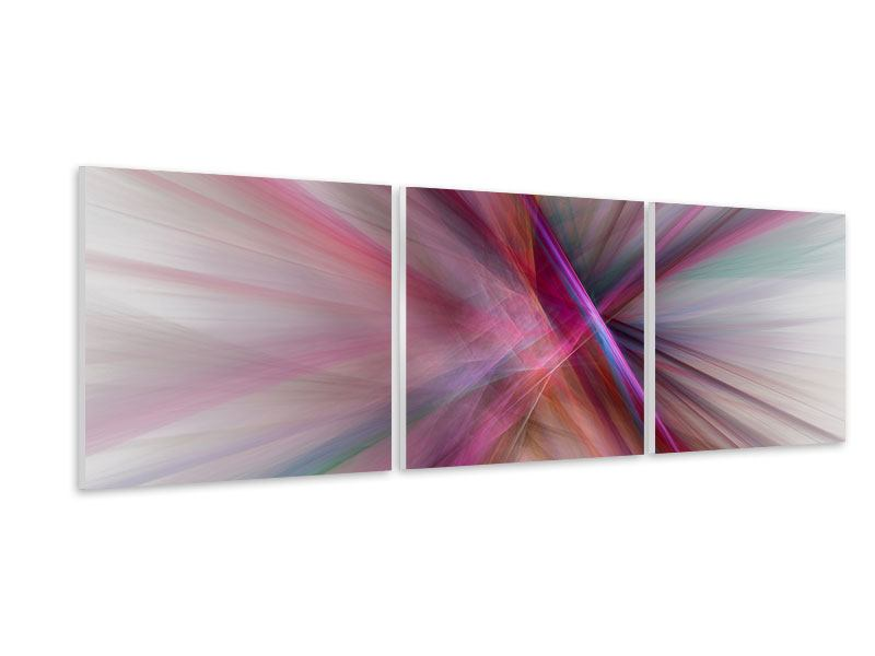 Panoramic 3 Piece Forex Print Abstract Lights Shine