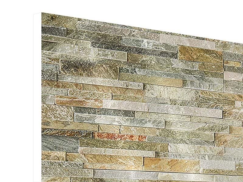 4 Piece Forex Print Noble Stone Wall
