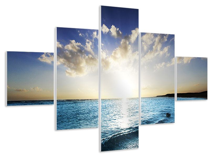 5 Piece Forex Print The Sea At Sunrise