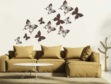 Wall Sticker 12 butterflies