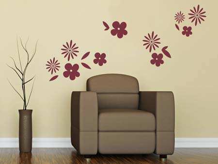 Wall Sticker 10 flowers