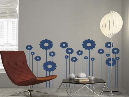 Wall Sticker Sunflower field