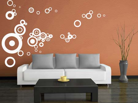Wall Sticker Retro circles