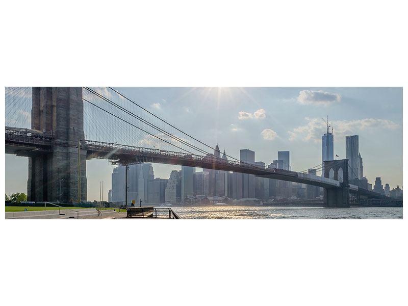Panoramic Self-Adhesive Poster Brooklyn Bridge