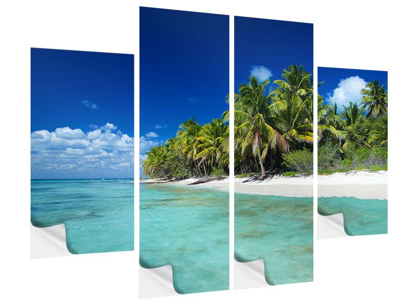 4 Piece Self-Adhesive Poster The Dream Island