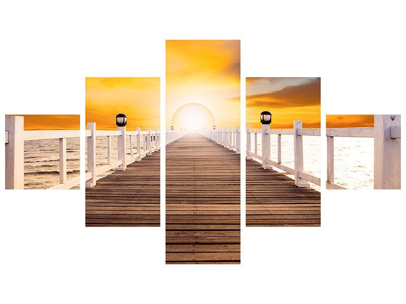 5 Piece Self-Adhesive Poster The Bridge On Happiness