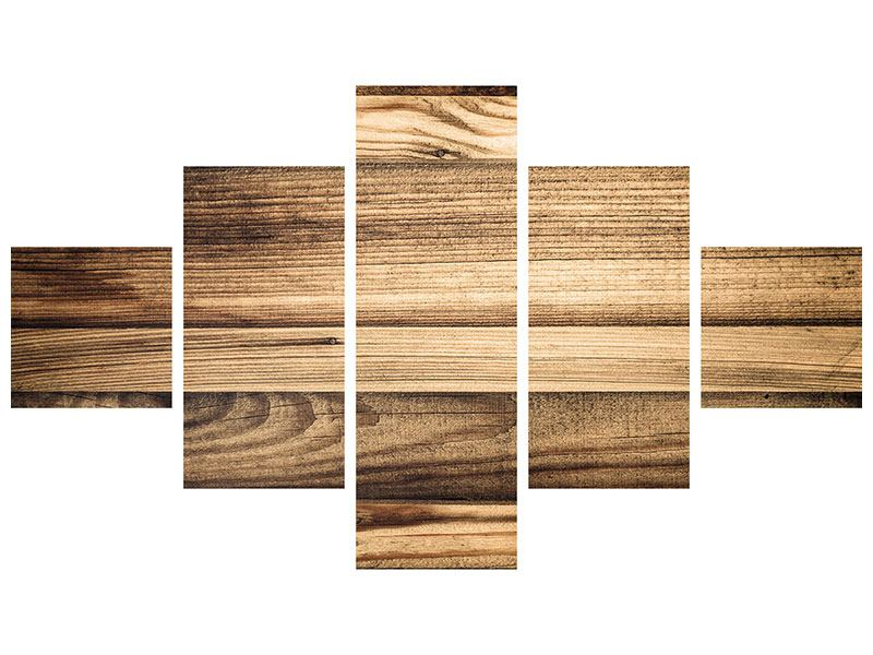 5 Piece Self-Adhesive Poster Wood Trend
