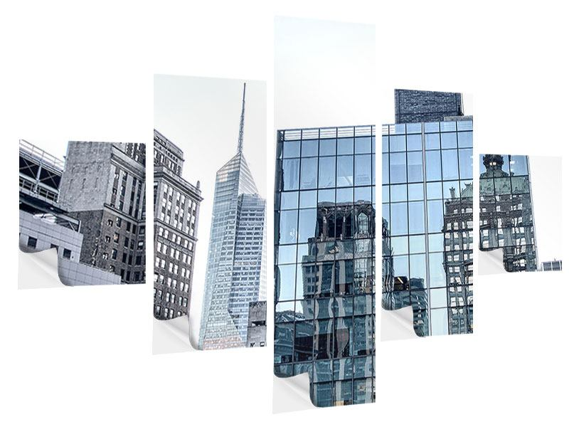 5 Piece Self-Adhesive Poster Skyscraper NYC