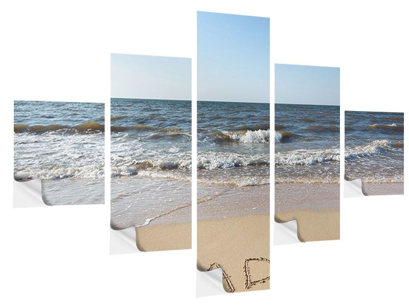 5 Piece Self-Adhesive Poster Tracks In The Sand