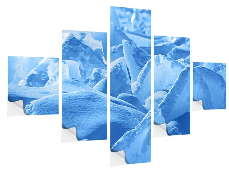 5 Piece Self-Adhesive Poster Ice Of Lake Baikal