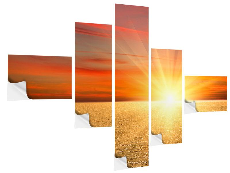 Modern 5 Piece Self-Adhesive Poster The Sunset