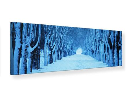 Panoramic Canvas Print Winter Trees