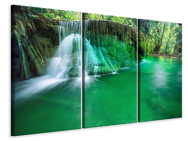3 Piece Canvas Print In Paradise