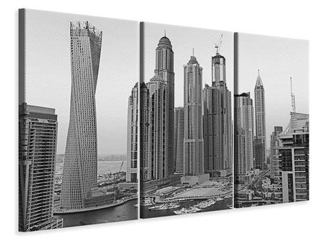 3 Piece Canvas Print Majestic Skyscrapers In Dubai