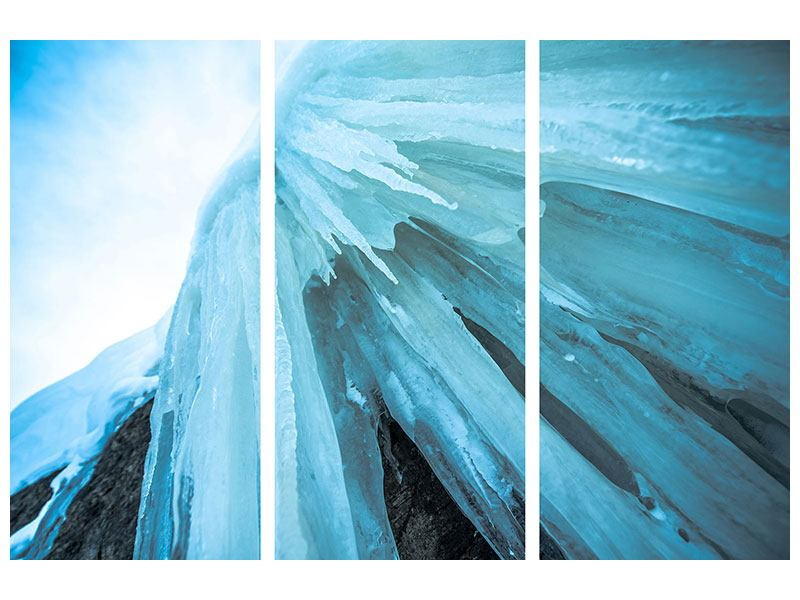 3 Piece Canvas Print Photo Wallaper The Ice Wall