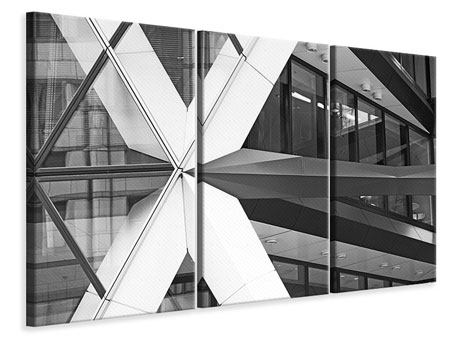 3 Piece Canvas Print Part Of A Skyscraper
