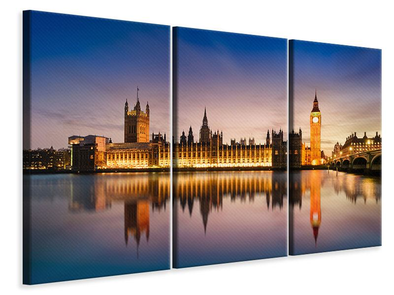 3 Piece Canvas Print Big Ben At Night