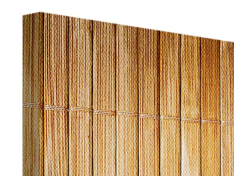 3 Piece Canvas Print Bamboo Canes