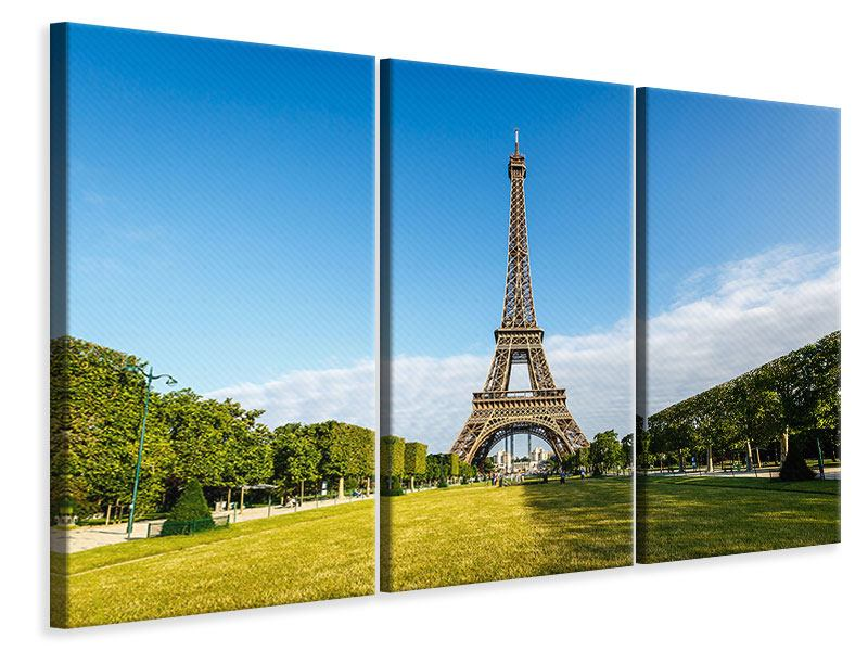 3 Piece Canvas Print The Eiffel Tower In Paris