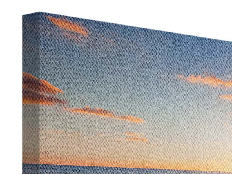 Panoramic 3 Piece Canvas Print Sunset On The Horizon