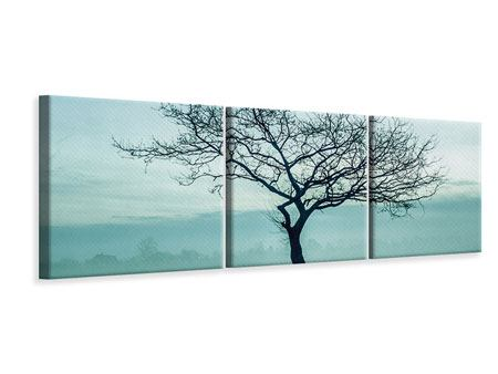 Panoramic 3 Piece Canvas Print The Magic Tree