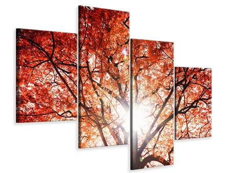 Modern 4 Piece Canvas Print Light Of Autumn