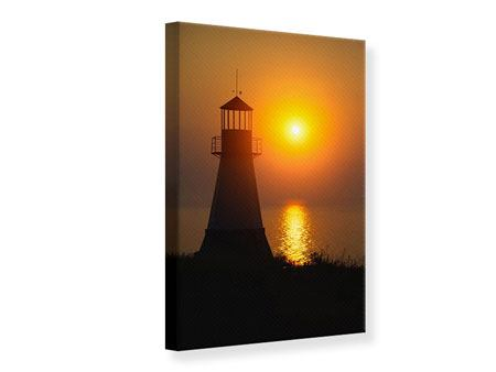 Canvas Print A Lighthouse At Sunset