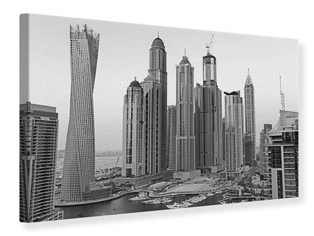 Canvas Print Majestic Skyscrapers In Dubai