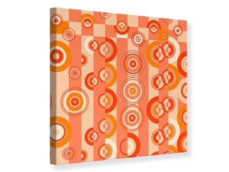 Canvas Print Moving Retro Circles