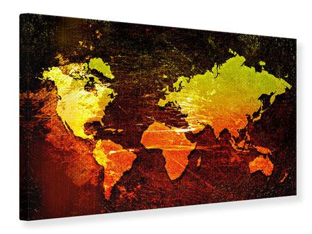 Canvas Print Retro World Map