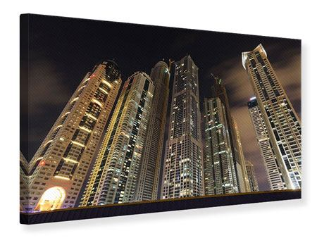 Canvas Print Skyscrapers Dubai Marina
