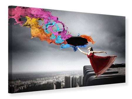 Canvas Print Dance On Skyscraper