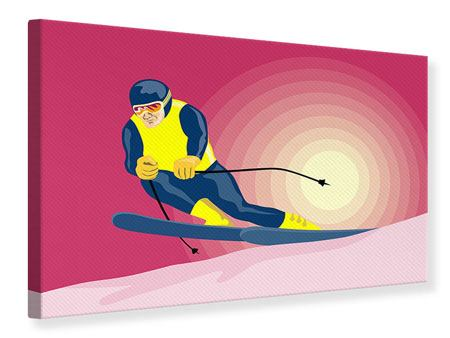 Canvas Print Retro Skier
