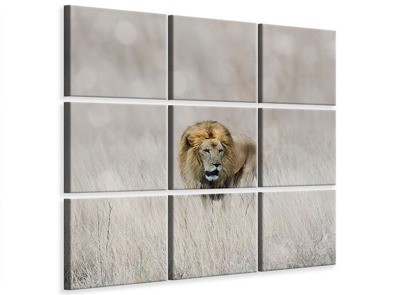 9 Piece Canvas Print The Lion