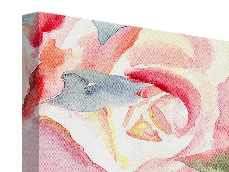 9 Piece Canvas Print Painting Rose